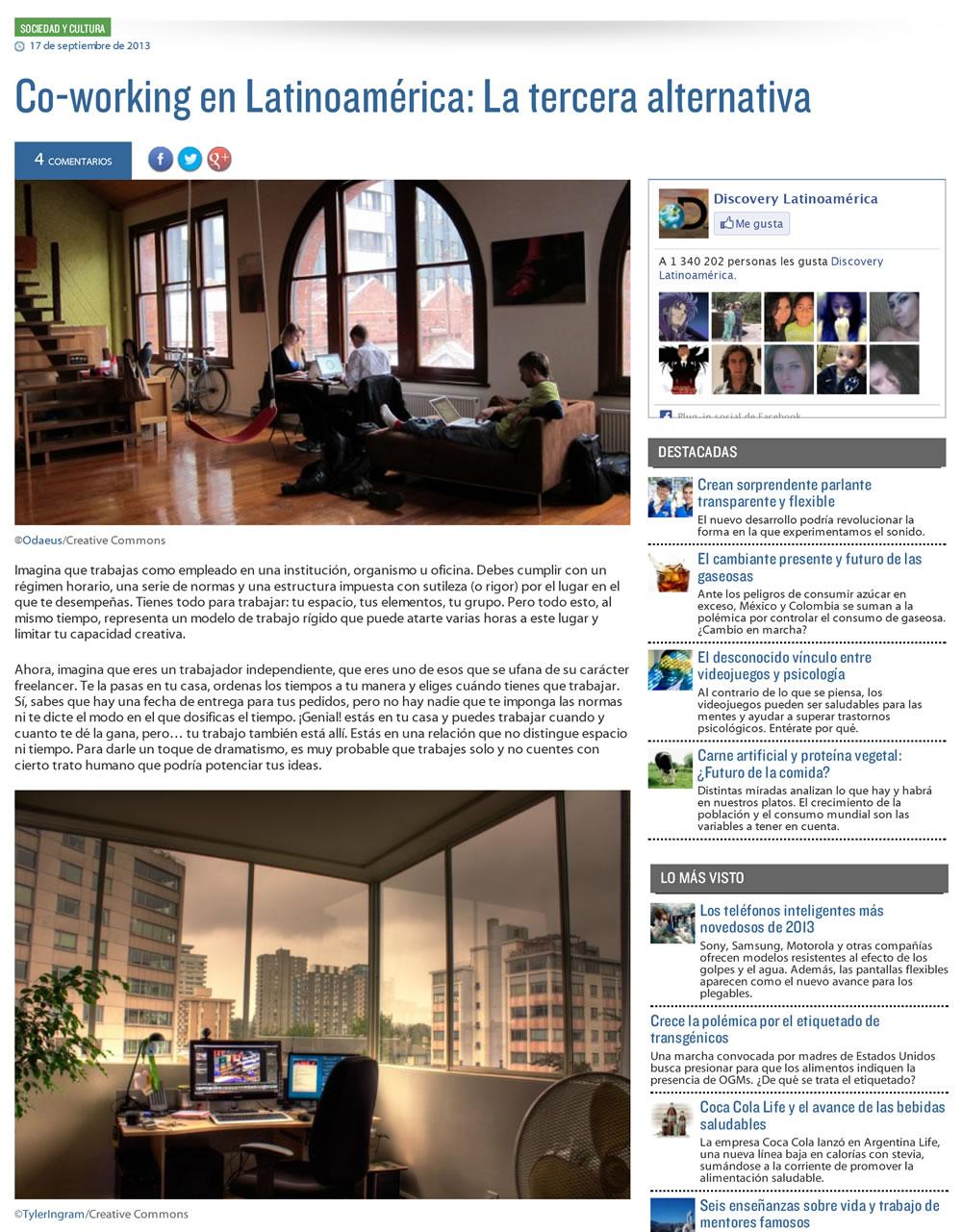 Coworking en Latinoamérica - Discovery Noticias
